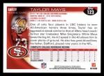 2010 Topps #123  Taylor Mays  Back Thumbnail