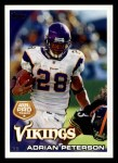 2010 Topps #103  Adrian Peterson  Front Thumbnail
