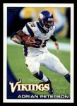 2010 Topps #10  Adrian Peterson  Front Thumbnail