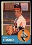 1963 Topps #554  Hank Fischer  Front Thumbnail