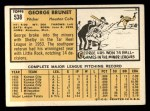 1963 Topps #538  George Brunet  Back Thumbnail