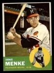 1963 Topps #433  Denis Menke  Front Thumbnail