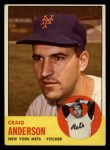 1963 Topps #59  Craig Anderson  Front Thumbnail
