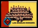 1963 Topps #337   Dodgers Team Front Thumbnail