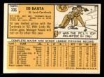1963 Topps #336  Ed Bauta  Back Thumbnail