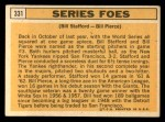 1963 Topps #331   -  Bill Stafford / Bill Pierce Series Foes   Back Thumbnail