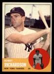 1963 Topps #420  Bobby Richardson  Front Thumbnail