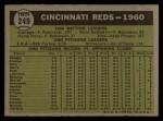 1961 Topps #249 xNCH  Reds Team Back Thumbnail