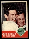 1963 Topps #148   -  Ralph Terry 1962 World Series - Game #7 - Yanks Celebrate as Terry Wins Front Thumbnail