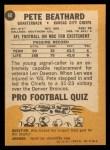 1967 Topps #60  Pete Beathard  Back Thumbnail
