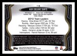 2013 Topps #16   New Orleans Saints Team Back Thumbnail