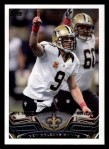 2013 Topps #16   New Orleans Saints Team Front Thumbnail