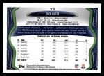 2013 Topps #33  Zach Miller  Back Thumbnail