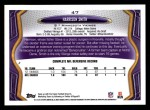 2013 Topps #47  Harrison Smith  Back Thumbnail