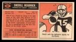 1965 Topps #101  Sherrill Headrick  Back Thumbnail