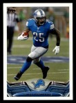 2013 Topps #122  Mikel Leshoure  Front Thumbnail