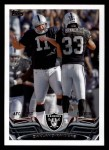 2013 Topps #167   Oakland Raiders Team Front Thumbnail