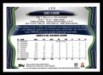 2013 Topps #177  Chris Clemons  Back Thumbnail