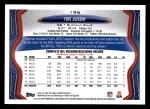 2013 Topps #196  Fred Jackson  Back Thumbnail