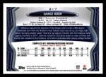 2013 Topps #217  DeMarco Murray  Back Thumbnail