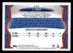 2013 Topps #222  T.J. Graham  Back Thumbnail