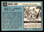 1964 Topps #78  Jacky Lee  Back Thumbnail