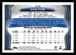 2013 Topps #268  Matthew Stafford  Back Thumbnail