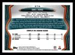 2013 Topps #276  Daniel Thomas  Back Thumbnail