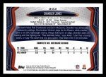 2013 Topps #303  Chandler Jones  Back Thumbnail