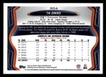 2013 Topps #304  Tim Jennings  Back Thumbnail