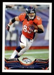 2013 Topps #340  Wes Welker  Front Thumbnail