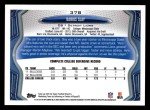 2013 Topps #378  Darius Slay   Back Thumbnail