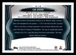 2013 Topps #414  Lane Johnson   Back Thumbnail