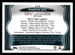 2013 Topps #432   Philadelphia Eagles Team Back Thumbnail