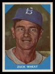 1960 Fleer #12  Zack Wheat  Front Thumbnail