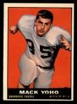 1961 Topps #165  Mack Yoho  Front Thumbnail