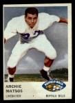 1961 Fleer #142  Archie Matsos  Front Thumbnail
