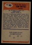 1955 Bowman #90  Tom Bettis  Back Thumbnail