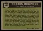 1961 Topps #572   -  Brooks Robinson All-Star Back Thumbnail