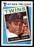 1989 Topps #665   -  Tony Oliva Turn Back The Clock Front Thumbnail