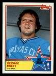 1983 Topps #388   -  George Brett All-Star Front Thumbnail