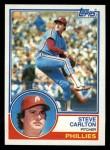 1983 Topps #70  Steve Carlton  Front Thumbnail