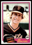 1981 Topps #11  Jim Wohlford  Front Thumbnail