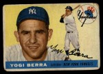 1955 Topps #198  Yogi Berra  Front Thumbnail