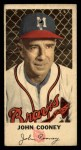 1954 Johnston Cookies #28  Johnny Cooney  Front Thumbnail