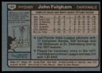 1980 Topps #152  John Fulgham   Back Thumbnail