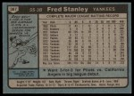 1980 Topps #387 RED Fred Stanley  Back Thumbnail