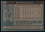 1980 Topps #618  Bob Montgomery  Back Thumbnail