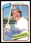 1980 Topps #116  Larry Cox  Front Thumbnail