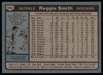 1980 Topps #695  Reggie Smith  Back Thumbnail